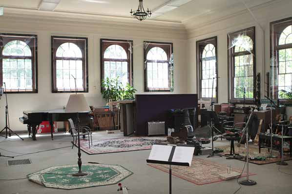 "Most recording studios look like dark caves; the ""Hallowed Halls"" Studio A is bright and airy."