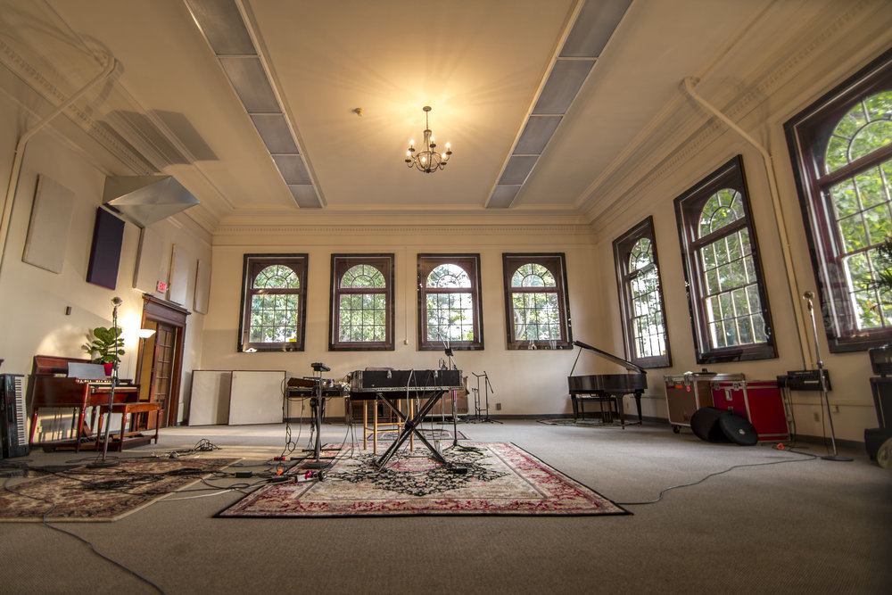 Studio A Live Room (1,600 sq. ft. with 18 ft. ceilings)