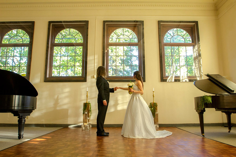 You can have your ceremony in The Hallowed Halls banquet hall.