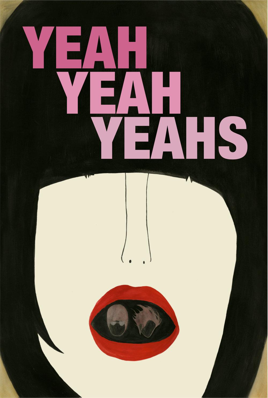 Poster Design - Yeah Yeah Yeahs concept poster design