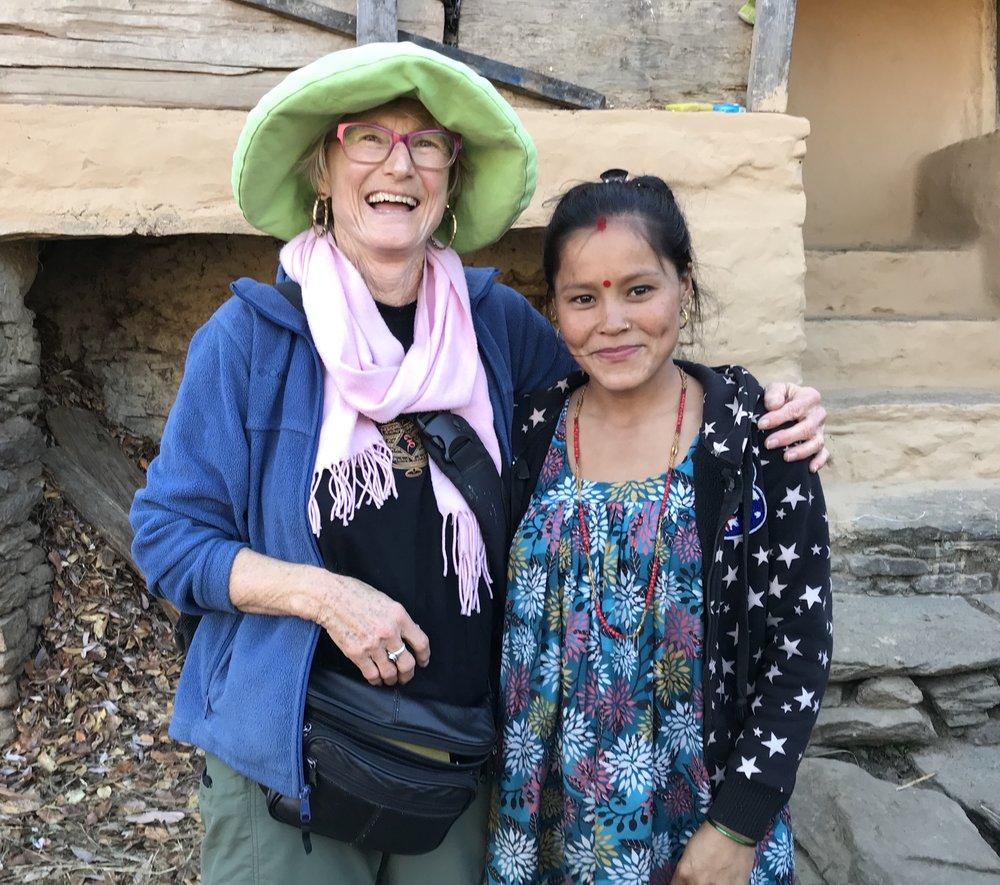 A teacher at Catherine's Kindergarten, Lalu, Nepal, 2017