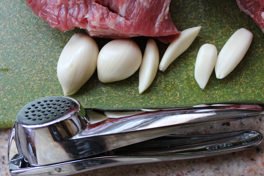 it's a garlic press!