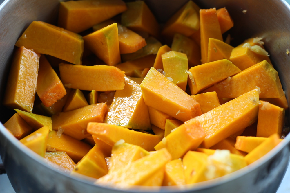 once fragrant, stir with squash to coat