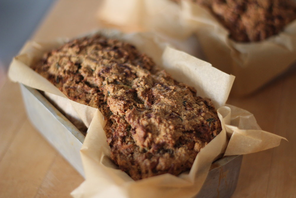 Not-Too-Sweet Almond Zucchini Bread