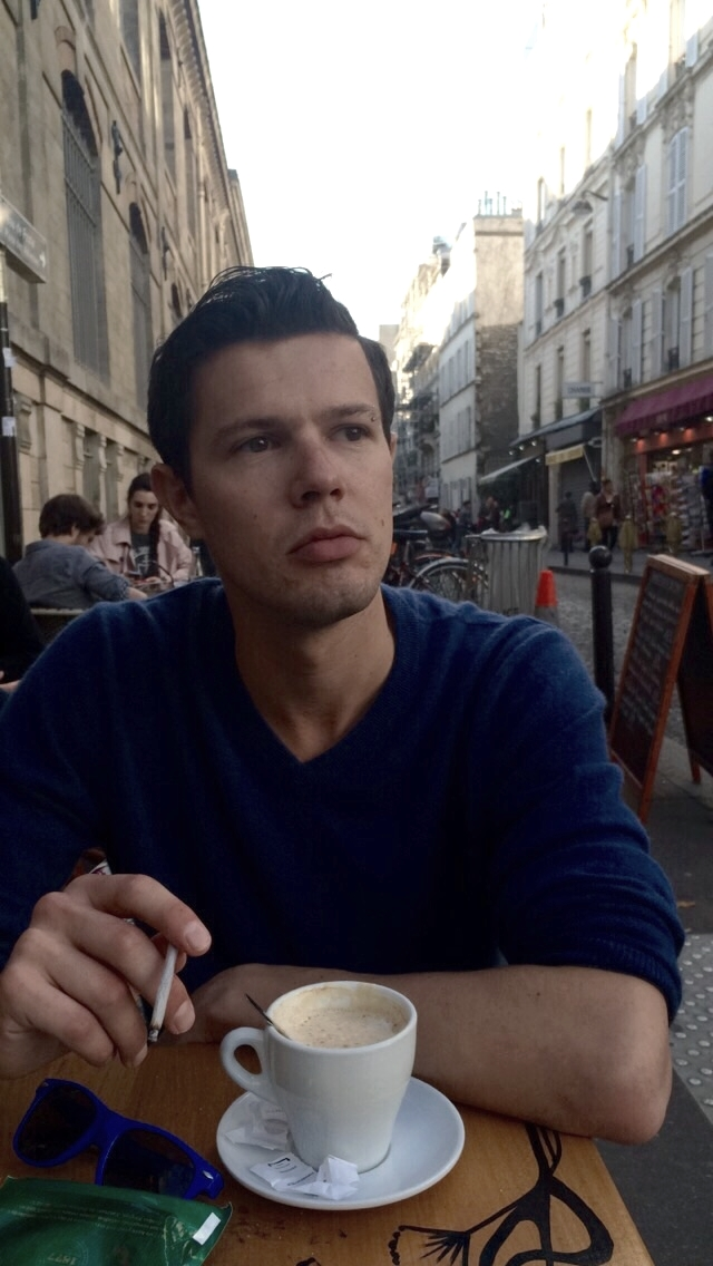 This is how you become french right? Coffee, cigarette, lack of smile...