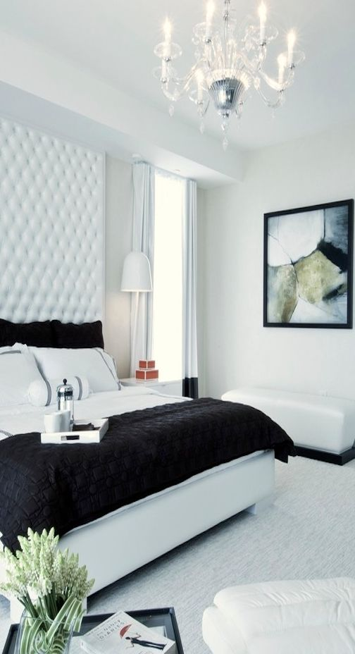 Because a black and white bedroom will always be my fave. xo -A