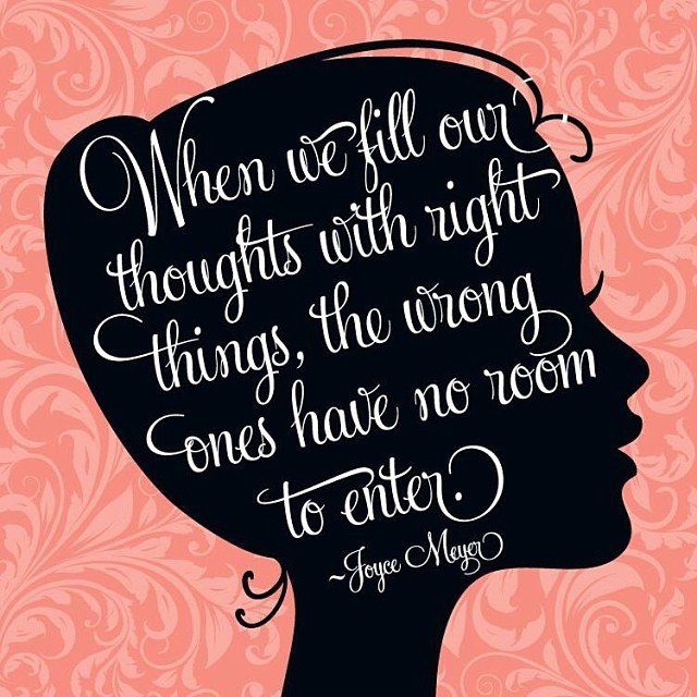 Because only good thoughts are allowed here. xo -A