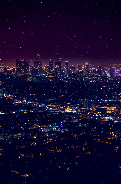 LA. Officially home. xo -A