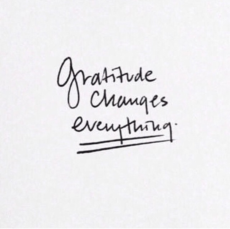 Because gratitude is for more than Thanksgiving day. xo -A