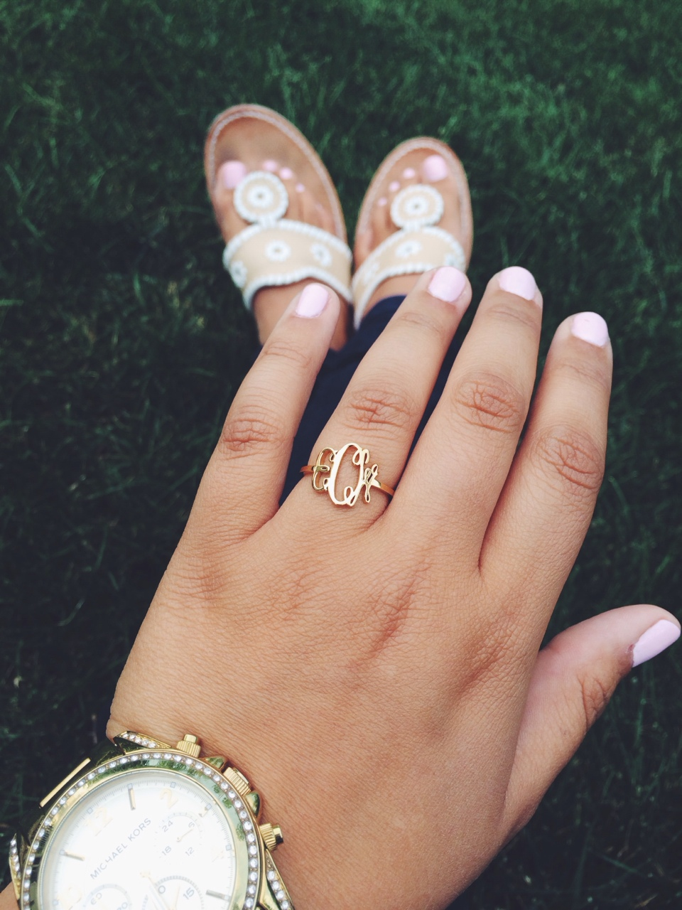 Because that monogram is following me. xo -A