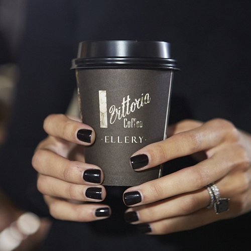 There is something lovely about dark nail polish. It always gives me a little something special. xo- A