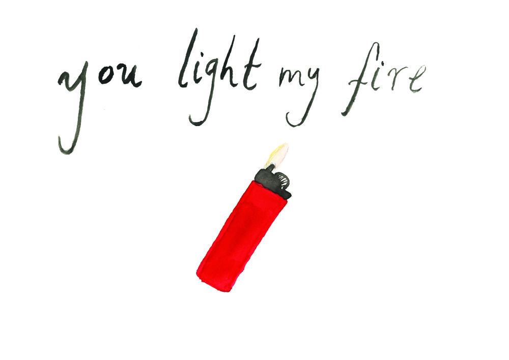 """Fire"" Part of my anti-greeting card series."