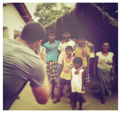 Taking Polaroids for Gheetha's Family