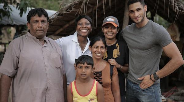 From Left: Driver, Dianne, Gheetha's son, Gheetha, Megali, Me