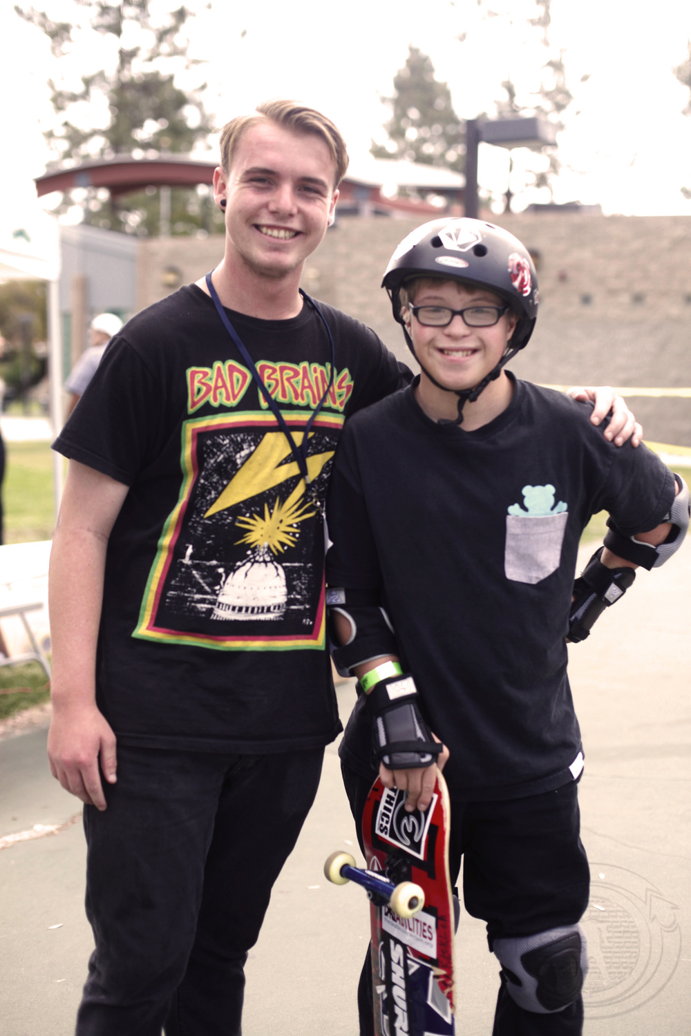 Nick and Cole skating at one of The Skate Connection's free skate clinics.