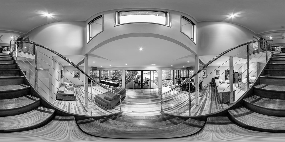 """Kingfisher Staircase"" Bronze Award, Open Built Environment (including Architecture) division, 2010 Epson International Photographic Pano Awards."