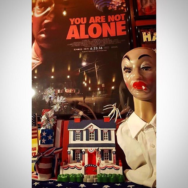 Incredible YOU ARE NOT ALONE memorabilia display thanks to Shawn Barber!