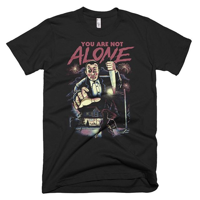 We're beyond thrilled to announce our official first YOU ARE NOT ALONE shirt courtesy of artist @caseybooth! Go to the store on yanafilm.com to place your order today and check out the other merch available.