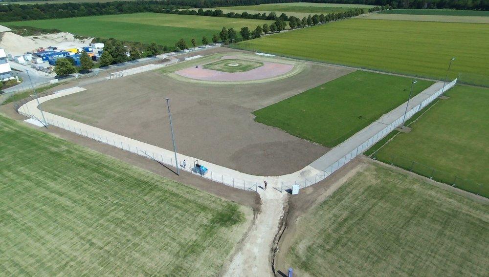 Luftbild der Anlage.