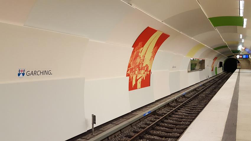 So sieht der U-Bahnhof Garching jetzt aus.