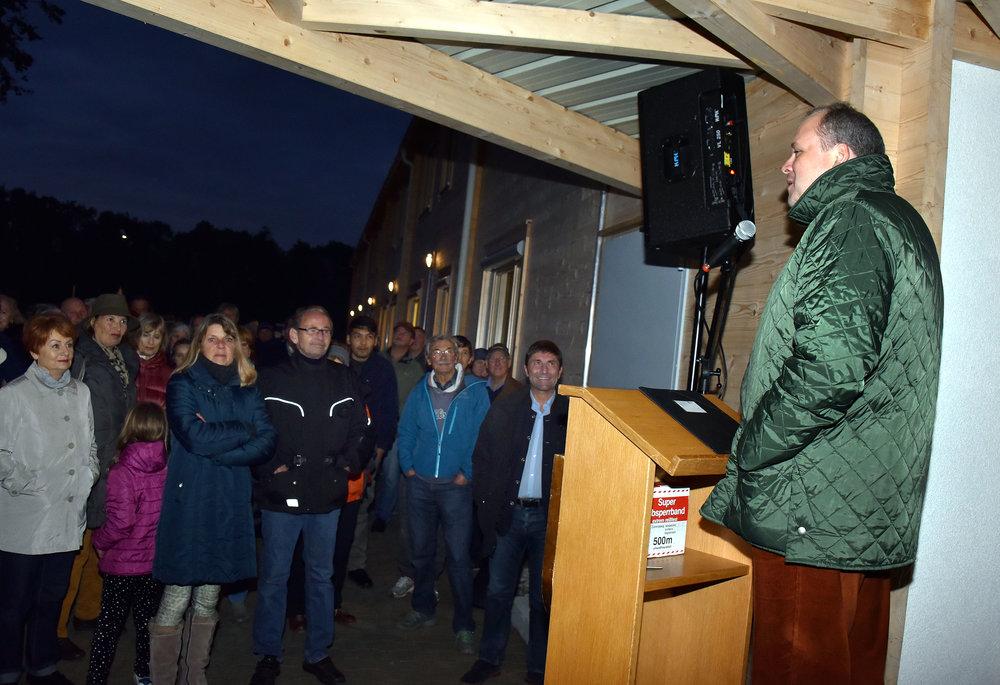 Begrüßte die anwesenden Bürgerinnen und Bürger: Landrat Christoph Göbel. (Foto: Gerald Förtsch)