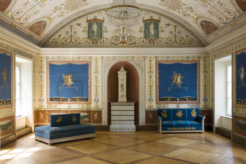 3 Schloss Ismaning. Blauer Saal nach Norden. Foto W.Petzi 2007.jpg