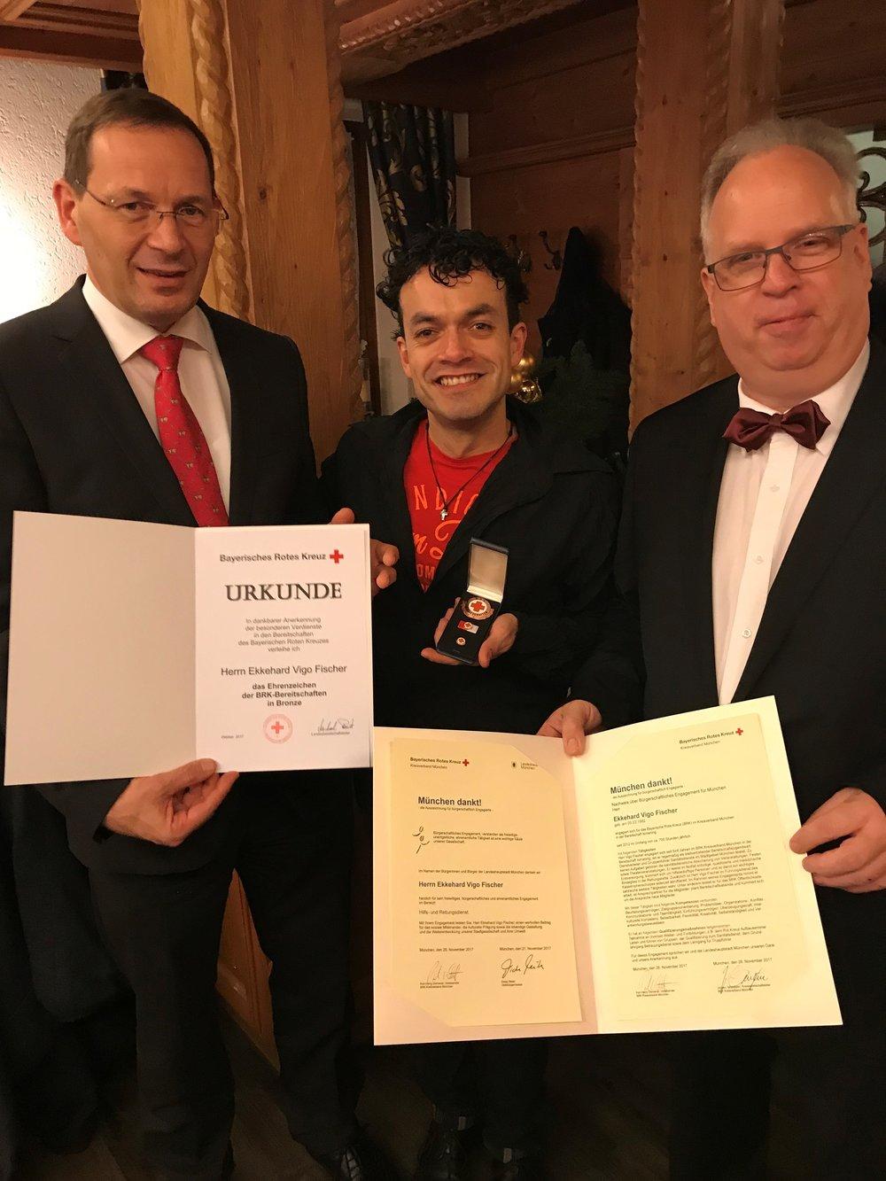 V.l.: Fried Saacke, Eckehard Vigo Fischer und Thomas Angenendt