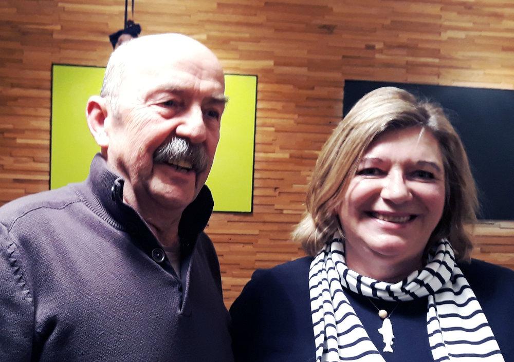 Max Pfefferle (2. Vorstand) und Elisabeth Rupprecht (1. Vorstand)