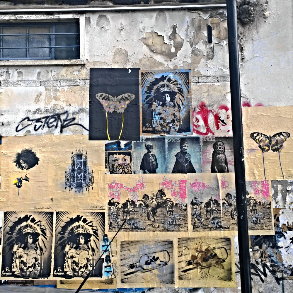 DONK Paste up wall,  Toynbee Street.
