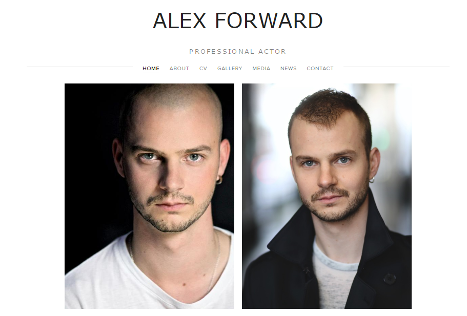 Alex Forward - Actor www.alexforward.co.uk
