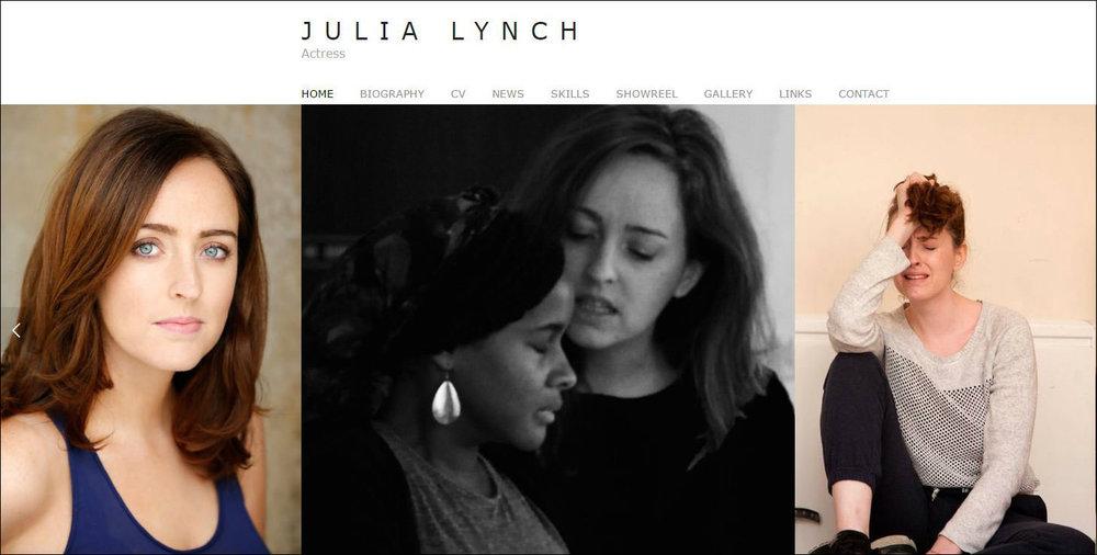 Julia Lynch - Actress  www.julialynch.co.uk