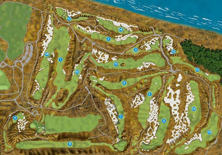the course layout at chambers bay