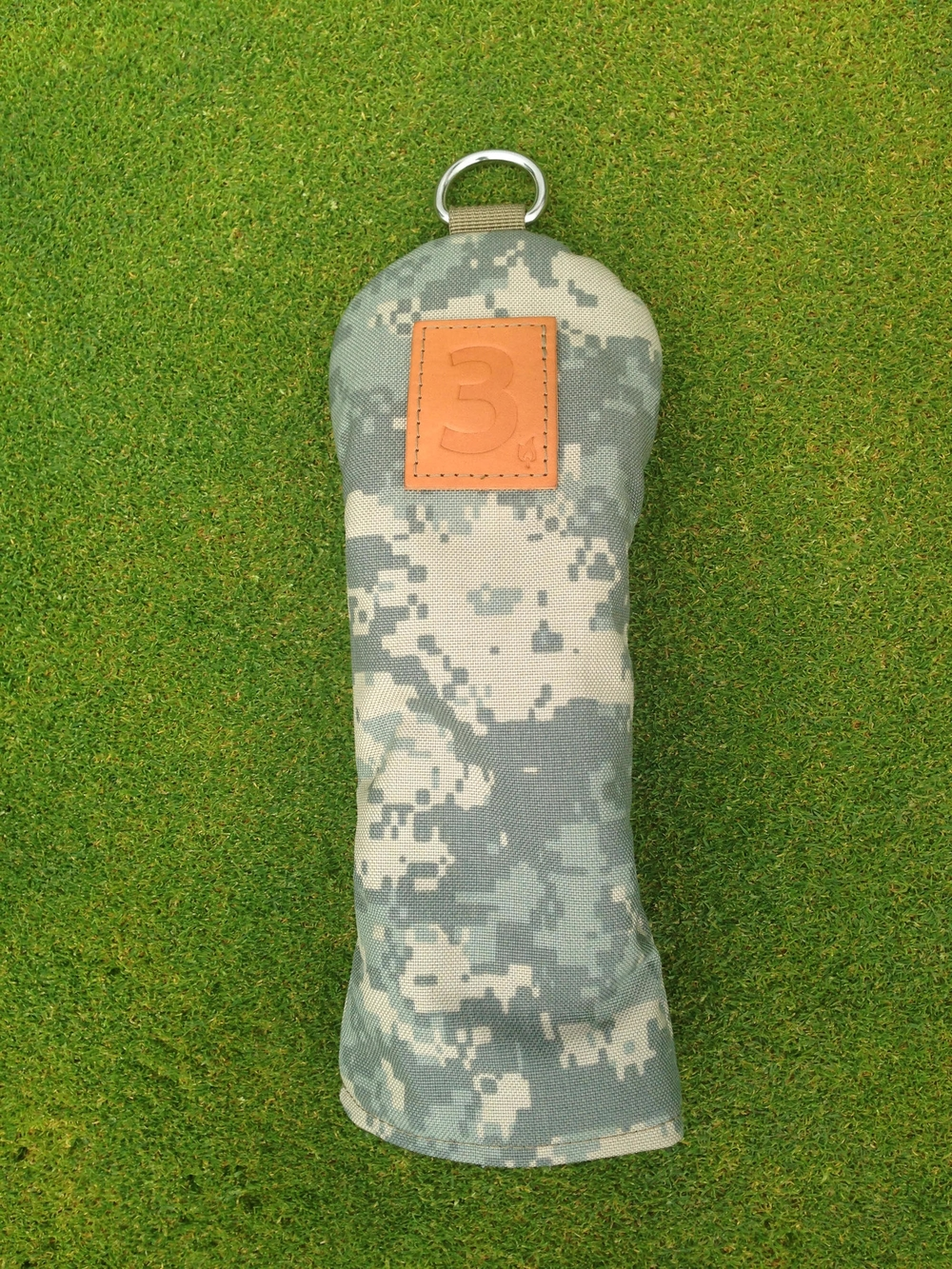 The Digital Camouflage Cover incorporates a Tan leather patch with a choice of options