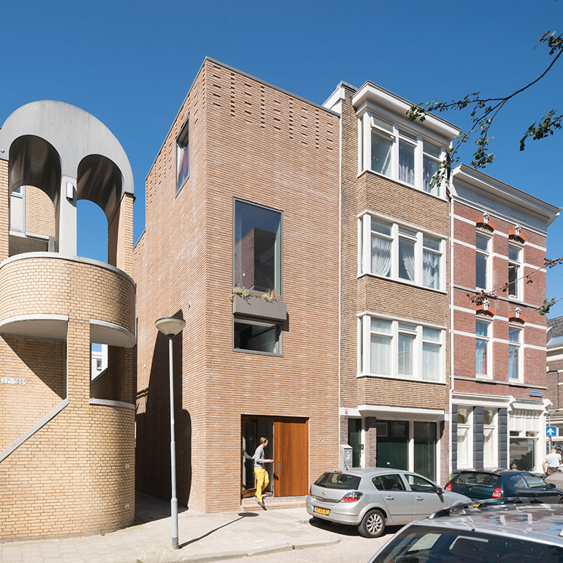 First house build from WasteBasedBricks in Rotterdam