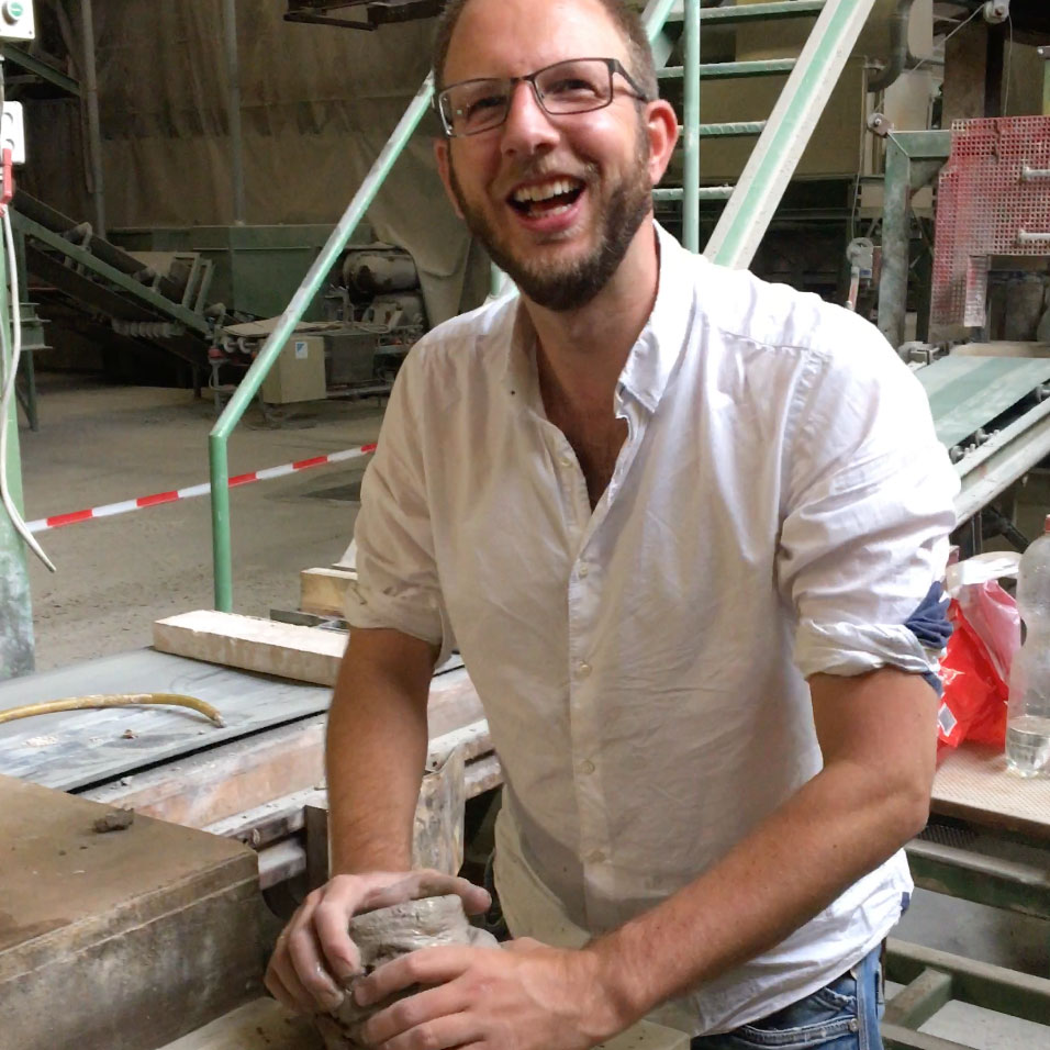 Commercial Director Jasper is shaping the first Potato-Brick