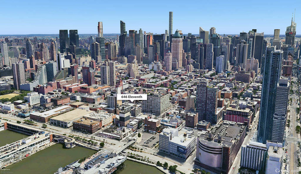 Location of the project in Manhattan