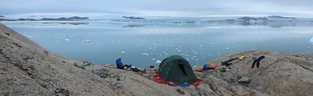 Many campsites in Greenland offer magnificent views.