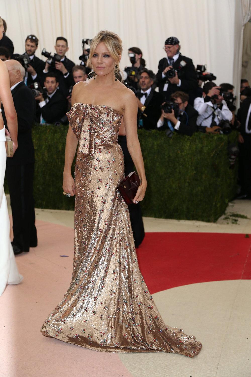 Sienna Miller in Custom Gucci