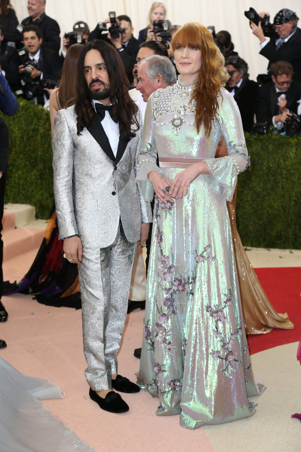 Alessandro Michele and Florence Welch in Custom Gucci