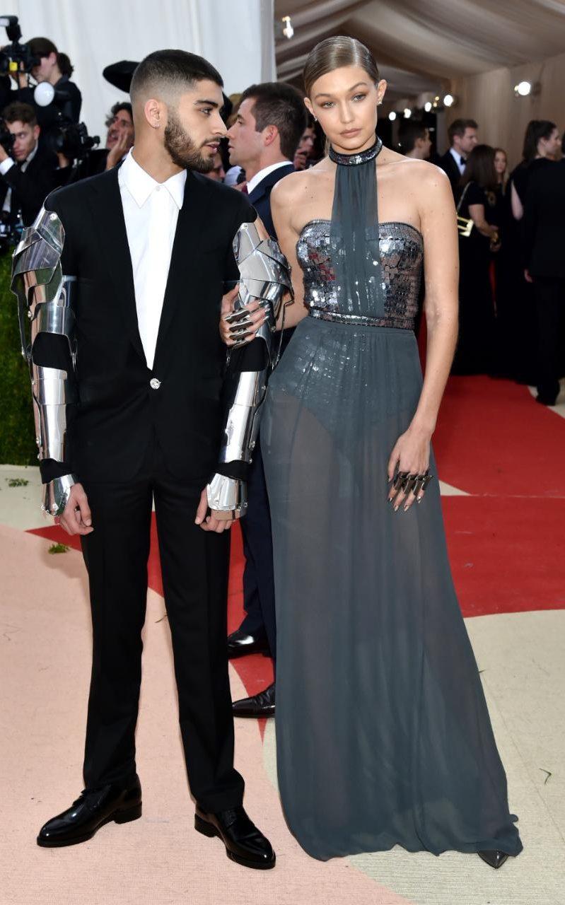 Zayn Malik in Versace and Gigi Hadid in Tommy Hilfiger