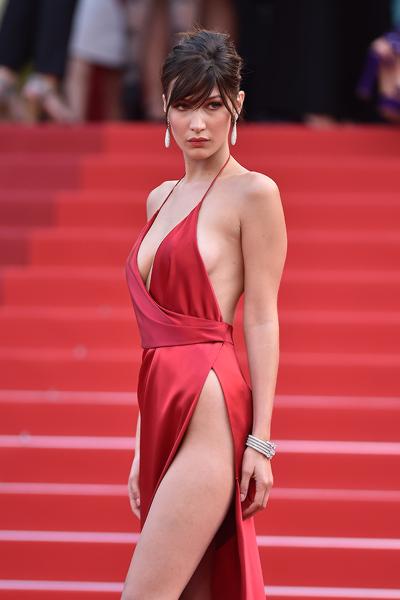 Bella Hadid in Antony Vaccarello