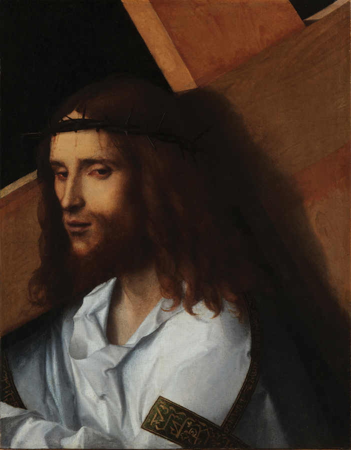 Attributed to Giovanni Bellini, Christ Carrying the Cross, circa 1500–10, oil on panel.