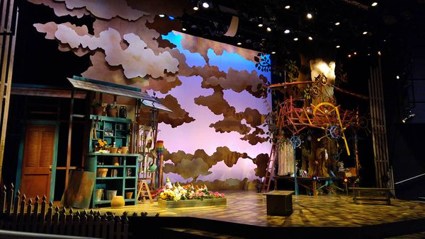 the set of when she had wings. photo courtesy of imaginationstage.