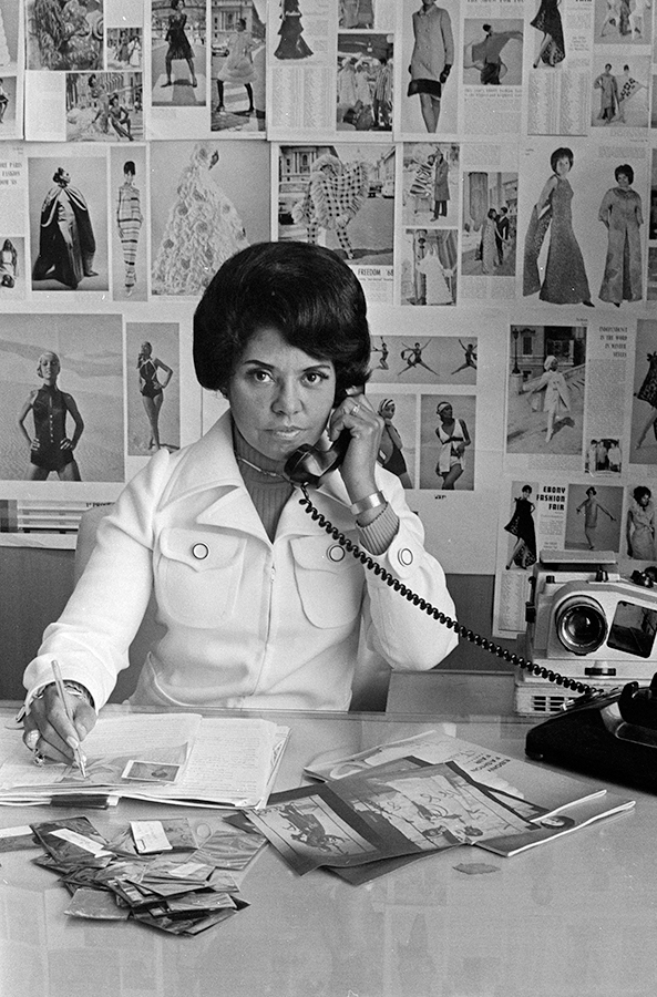 Eunice Johnson at work, 1970.© Johnson Publishing Company, LLC