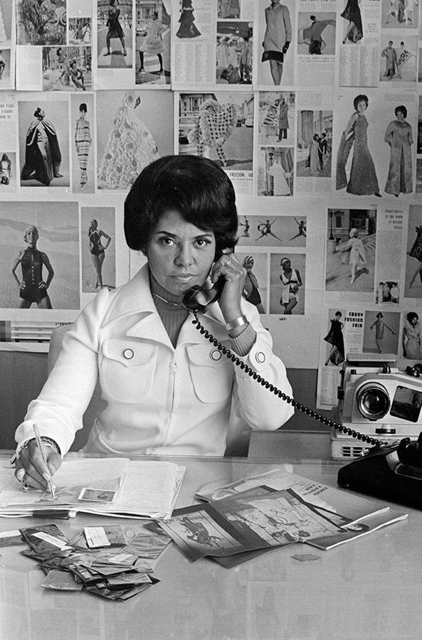 Eunice Johnson at work, 1970.© Johnson Publishing Company, LLC