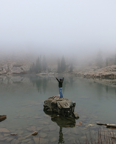 souers at Utah Lake. photo courtesy of clark souers.