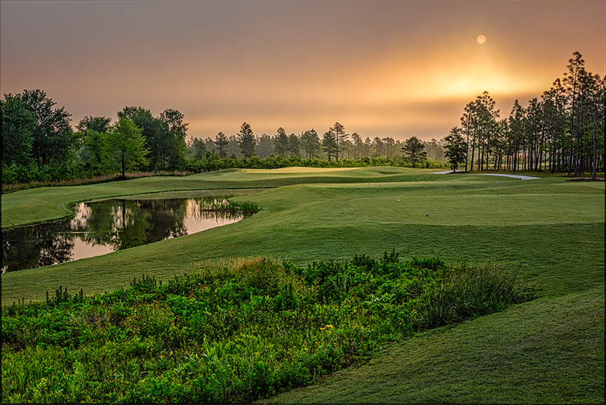 Compass Pointe Golf Club, just outside of Wilmington, is North Carolina's newest public golf club, designed by noted golf course architect and past president of the American Society of Golf Course Architects Rick Robbins, whose company has built dozens of courses in the U.S. and the Far East. photo by Dave Sansom Photography