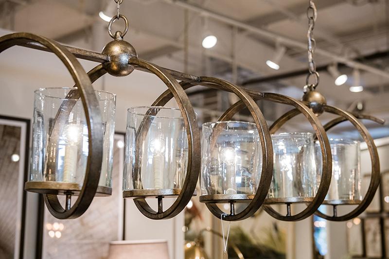 Currey & Co Maximus rectangular chandelier, $1,870;  furnish  8724 Glenwood Ave; furnishnc.com