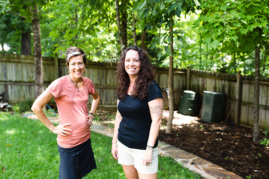 Leigh Williams and Dargan Gilmore, founders of Toward Zero Waste. Photo by Mick Schulte.