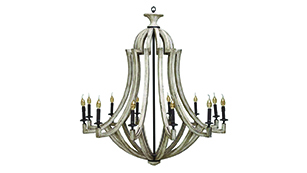 Door Country chandelier (shown in Chantilly), $1,227.80 | Steven Shell Living